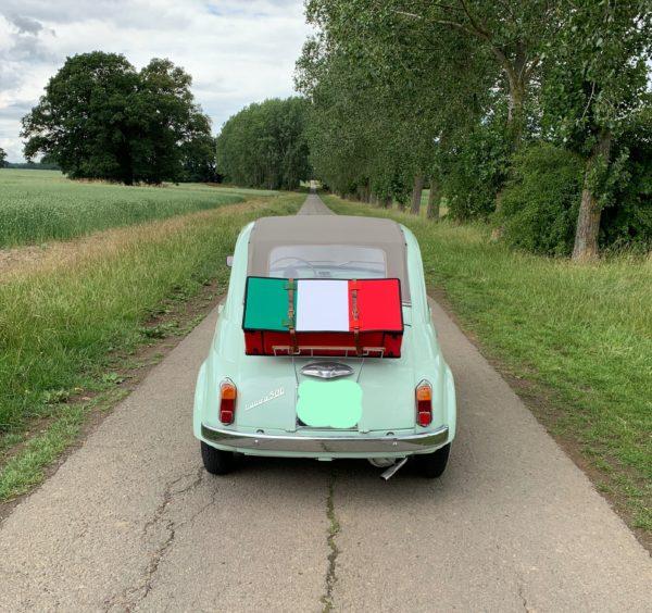 Fiat 500 suitcase Italian Flag