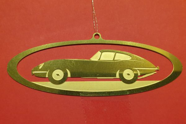 Jaguar E-type Christmas Decoration