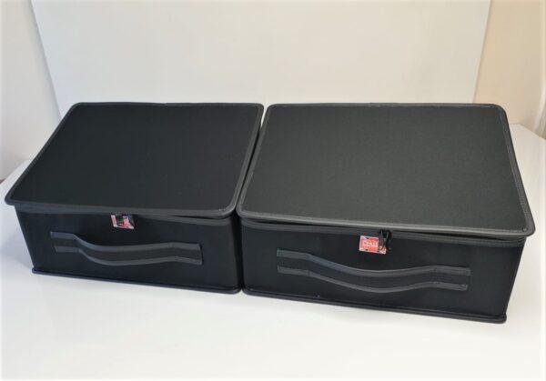 Morgan Plus Four cases in black