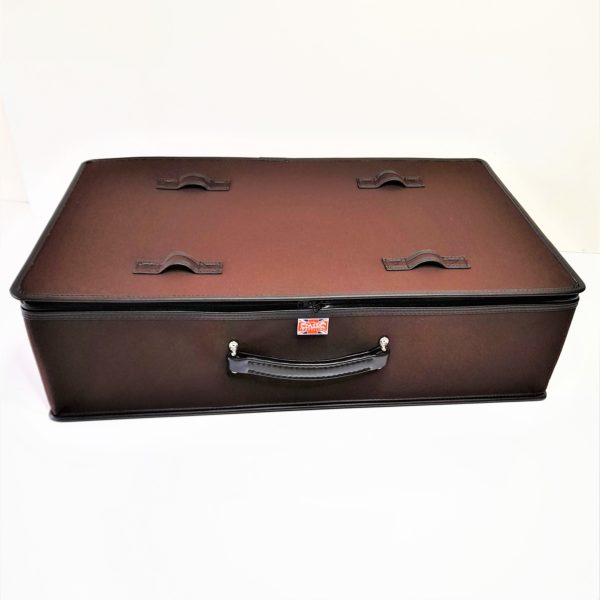 Brown mohair suitcase